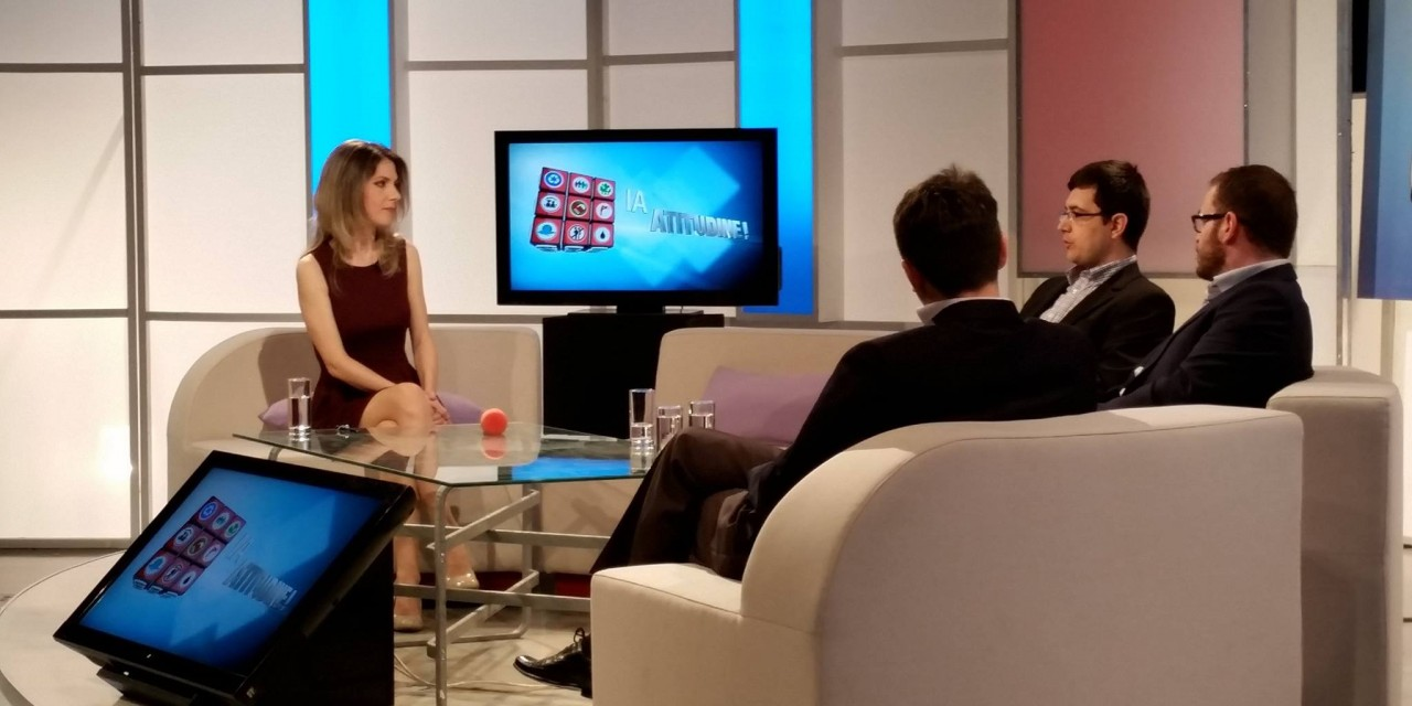 Ștefan Bosomitu și Ilarion Țiu, invitați ai emisiunii Ia atitudine! (TVR 1) din 9 mai 2016